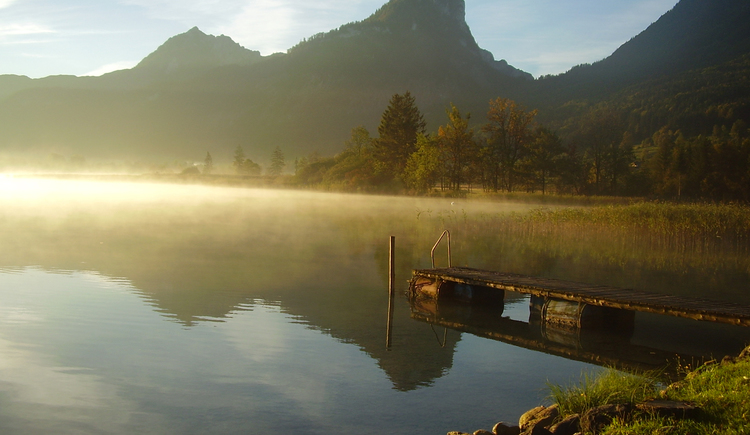 Morgenstimmung über dem Wolfgangsee (© Ing. Roland Leitner)