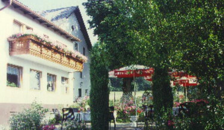 Engelhartszell, Stadl, Haugstein, Wirtshaus, Pension, Gastgarten