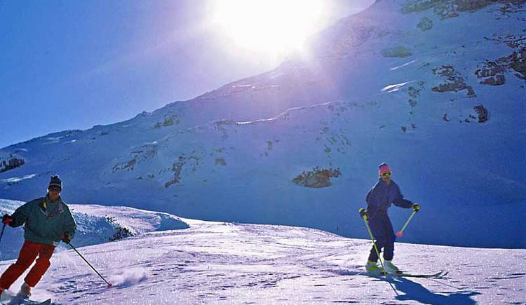two skiers on the Krippenstein