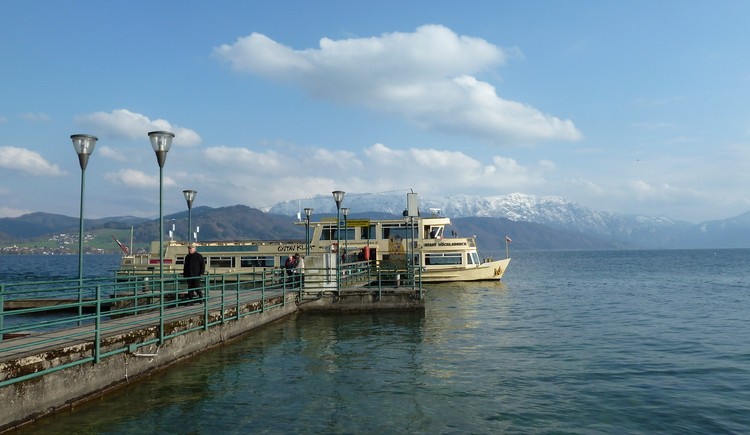 Klimt Schiff am Attersee, Ferienwohnung Hemetsberger (© eigene Bilder)