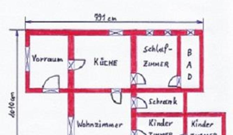 Wohnungsplan (© Hüttner)