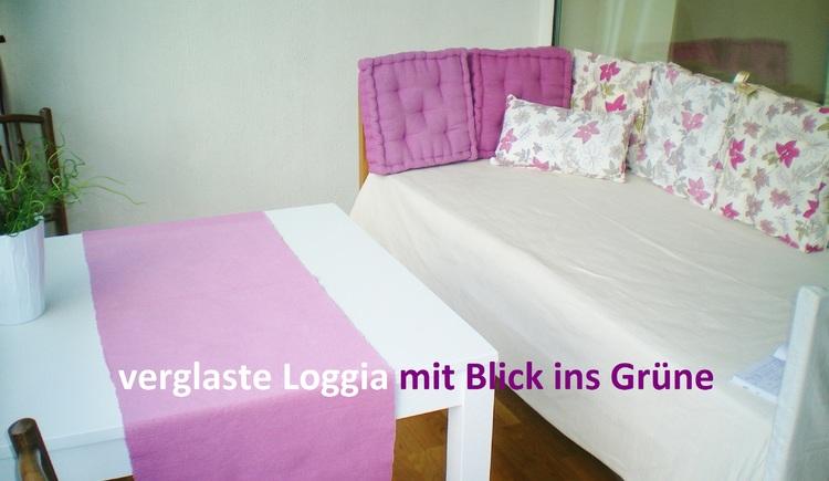 verglaste Loggia Appartement Miramonte (© H. Obermüller)