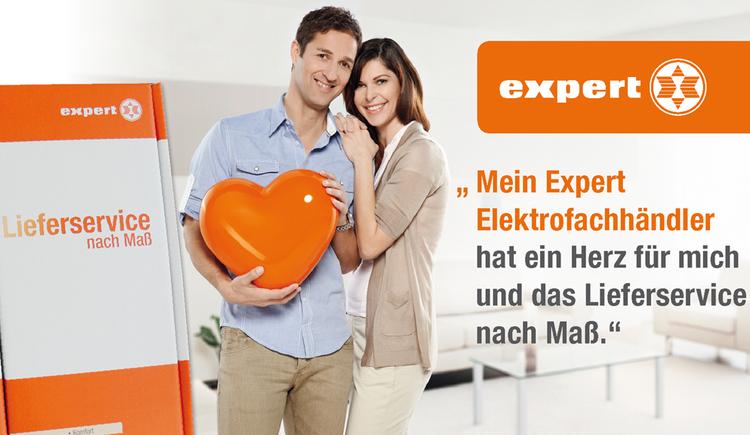 Werbeplakat der Firma Expert