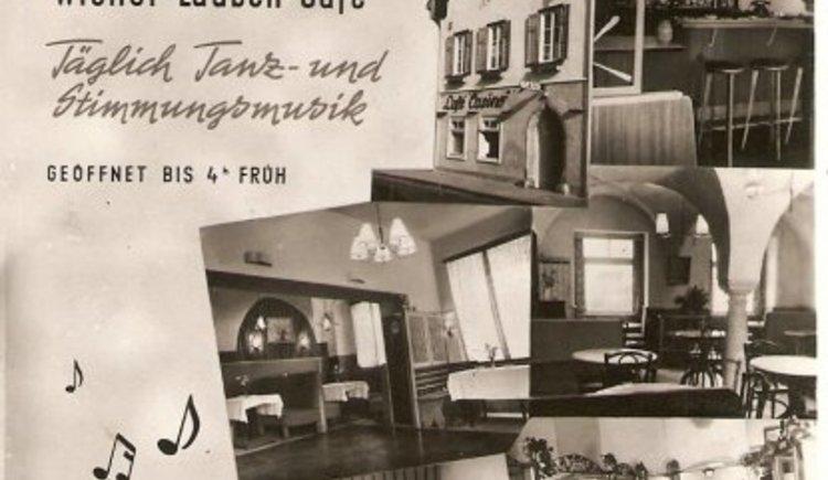 Werbung in den 1950er Jahren. (© www.cafe-casino.at)