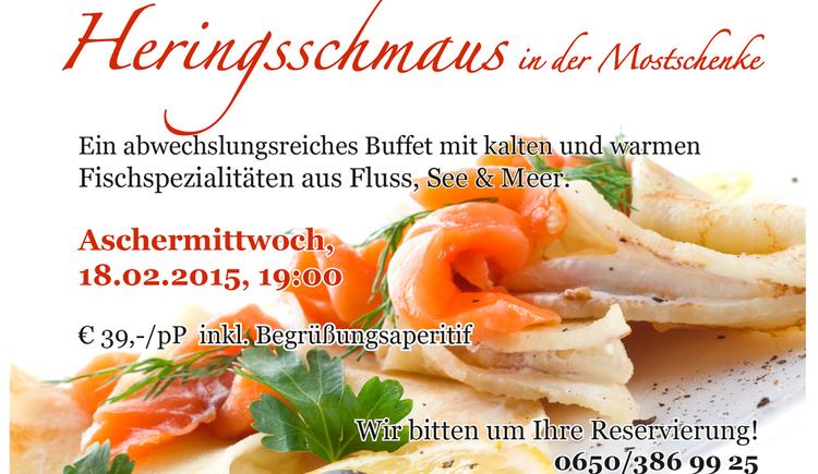 Aschermittwoch 2015\nab 19:00 Reservierung erbeten\noffice@moststadl.com