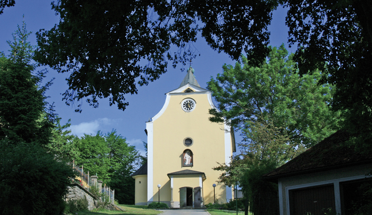 Rohrbach-Berg ist der Ausgangspunkt dieser Etappe des Jakobsweges von Kraumau (CZ) nach Passau (D).