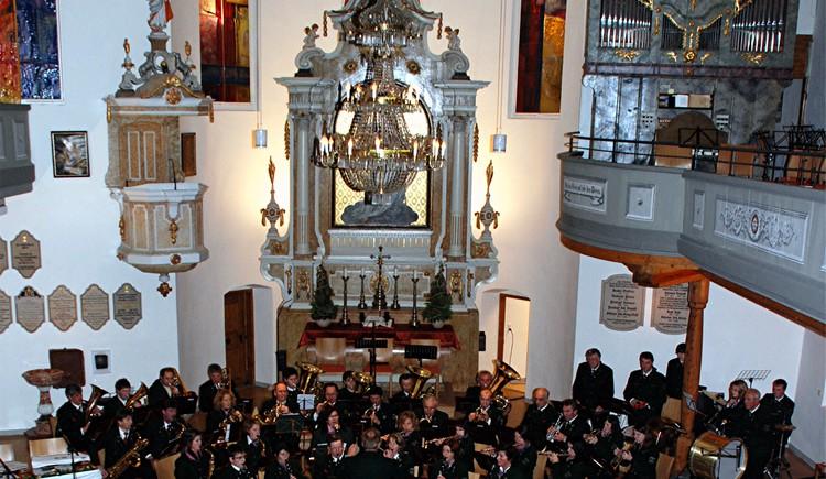 Kirchenkonzert in der evangelischen Kirche in Bad Goisern am Hallstättersee.