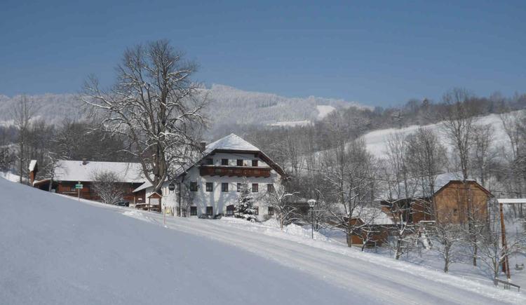 Winter am Campingplatz Pfaffenlehen. (© Familie Unterbuchschachner)