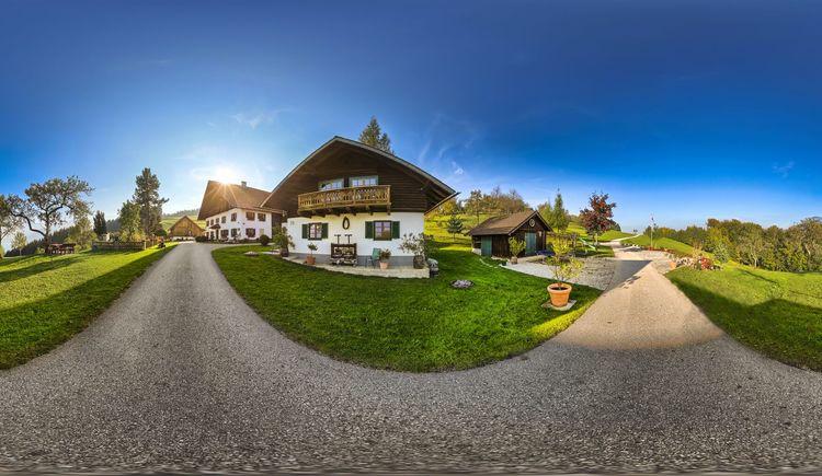 Panoramaaufnahme vom Ferienhaus Margarethe. (© Andreas Graf)