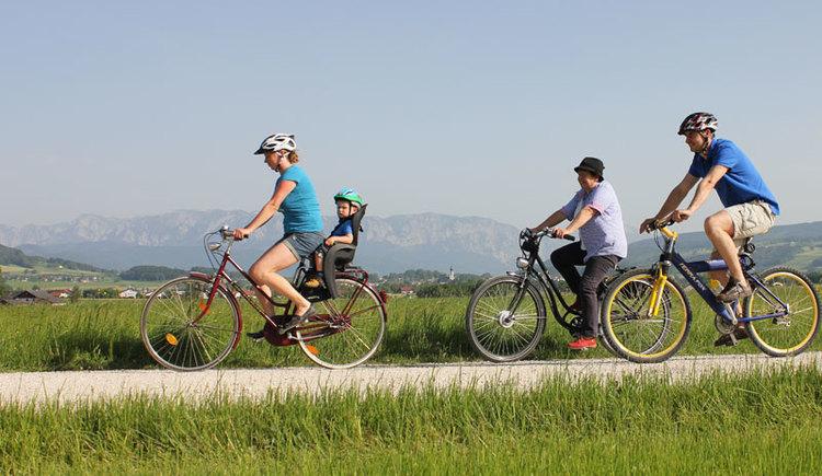 familienfreundlich, Radfahren, St. Georgen im Attergau. (© TVB Attersee-Attergau, Andrea Schoßleitner)
