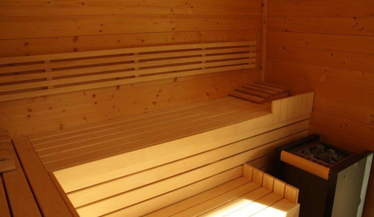 Unsere neue Sauna mit Bergblick