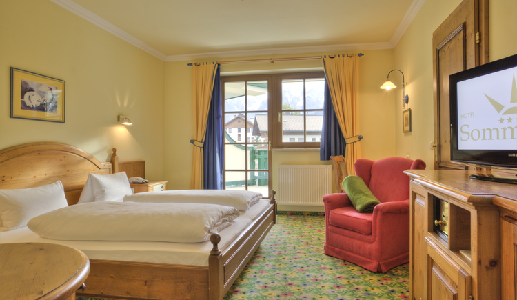 Hotel Sommerhof - Doppelzimmer Rotmoos/Rapunzel/Blumenwiese. (© Andreas Meier / Chili-photography)