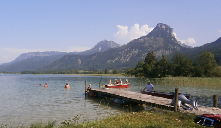 Badesteg vom Camping Seewinkl (© Ing. Roland Leitner)