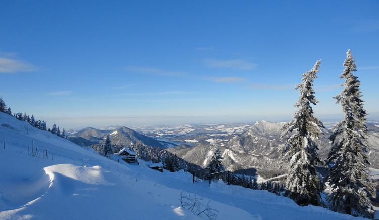 Winterbild Franzl Hütte am Zwölferhorn. (© Teichmeister)