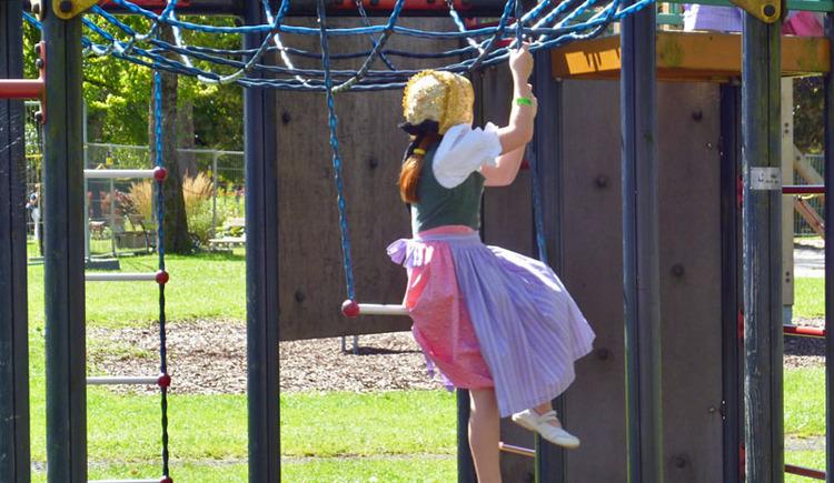 Children's Playground in Bad Goisern am Hallstättersee.