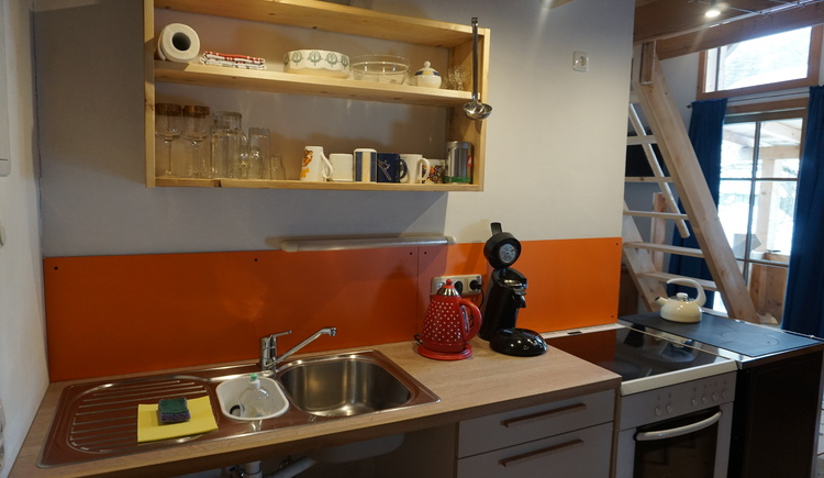 The kitchen in the apartment.