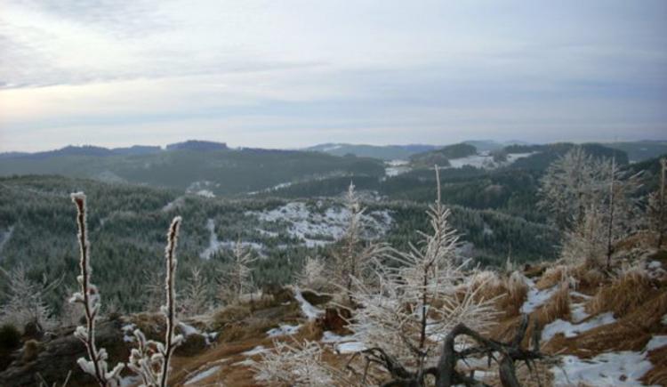 Naturschutzgebiet Tanner Moor vom Schnee bedeckt, Mühlviertler Alm