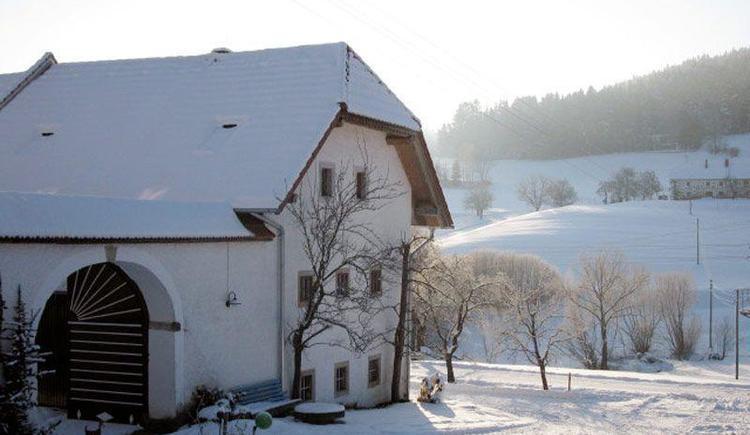 Vorderansicht Winter (© Ferienwohnung Baun)