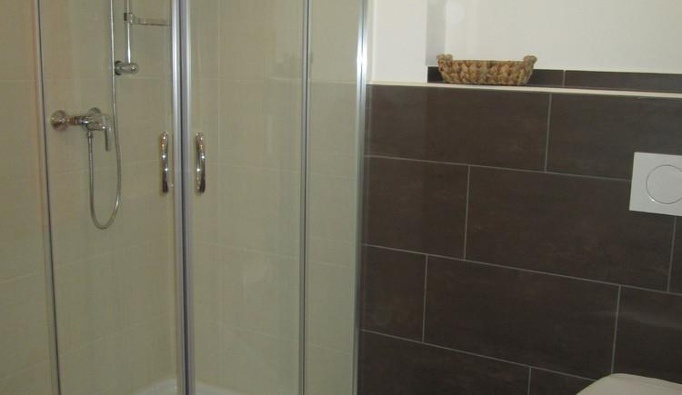 Das Bad und WC im Haus Steinbrecher in Hallstatt