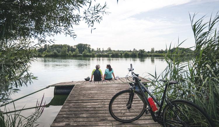 Pausen an den Badeseen von Feldkirchen. (© Oberösterreich Tourismus GmbH/Moritz Ablinger)