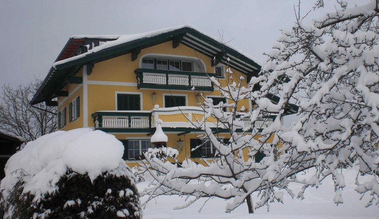 Picture of the house in the snow