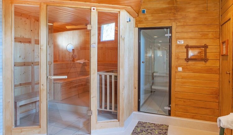 Relax in the newly designed spa area with steam room and sauna