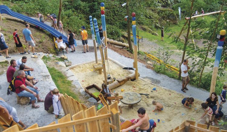 verschiedene Stationen im Wassererlebnispark Pregarten