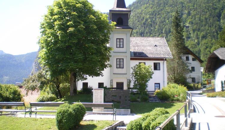 Ansicht des evangelischen Bethauses in Obertraun