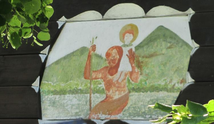 Blick auf ein Gemälde