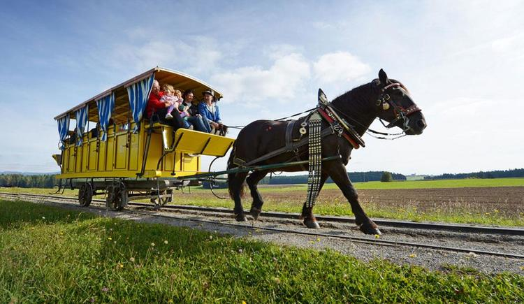 Pferdeeisenbahn in Kerschbaum (© OÖ Tourismus/Röbl)