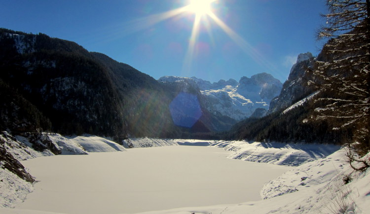 The beautiful Gosausee is also in winter worth seeing.