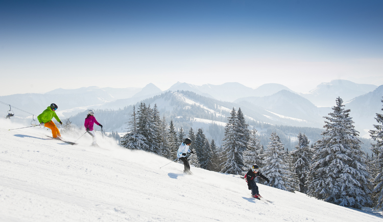 Skiing in the ski area Gaissau Hintersee (© Fuschlsee Tourismus GmbH - Erber)