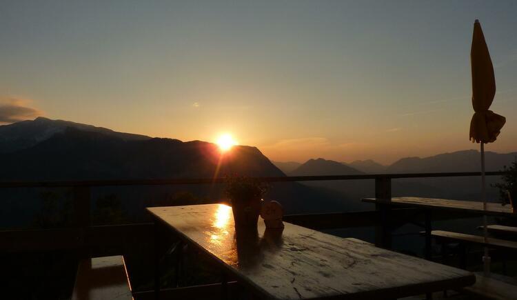Sonnenuntergang auf der Hofalm
