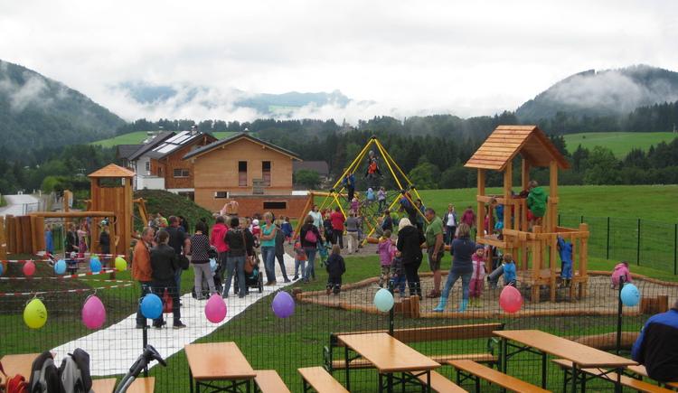 Eröffnung Kinderspielplatz in Faistenau (© Tourismusverband Faistenau)