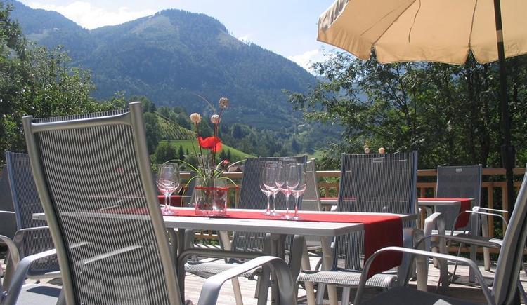 Terrasse Vinothek Seebacher