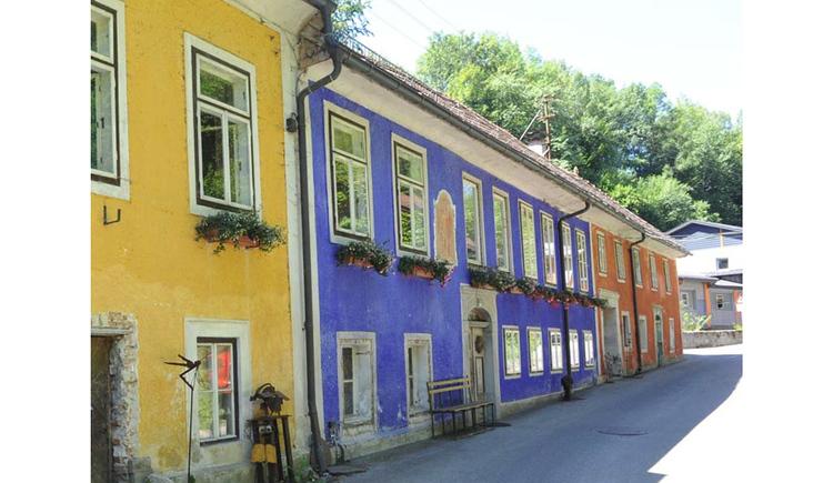 Blick auf die Häuser