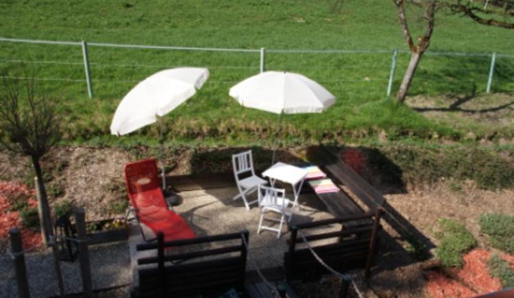 Ferienwohung Aham, Terrasse
