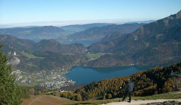 Ausblick vom Zwölferhorn - Wolfgangsee & Mondsee (© Tourismusverband Faistenau)
