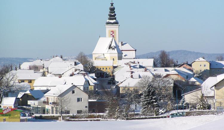 Ortsansicht Winter (© Marktgemeinde St. Peter)