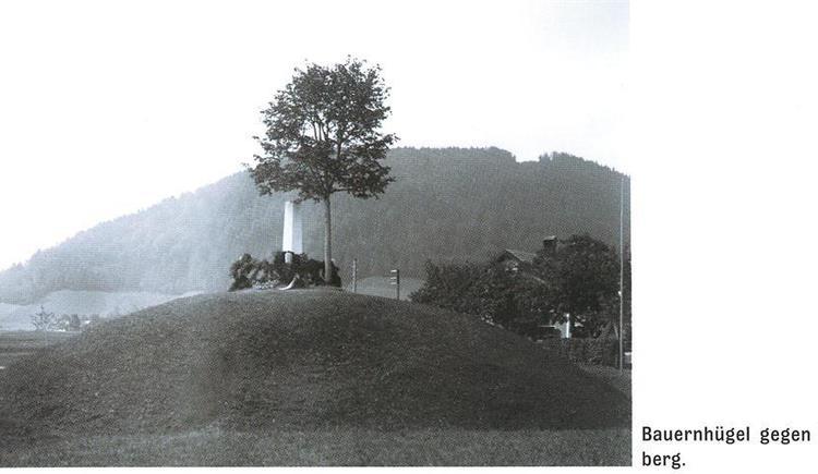 Bauernhügel gegen Pinsdorfberg