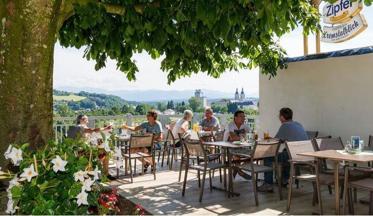 Terrasse (© Gsthaus Kremstalblick)