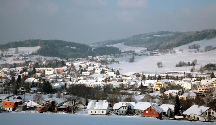 Winterpanorama St. Oswald (© Tourismuskern St. Oswald)