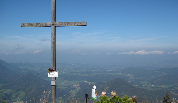 Cross on the summit of the mountain \