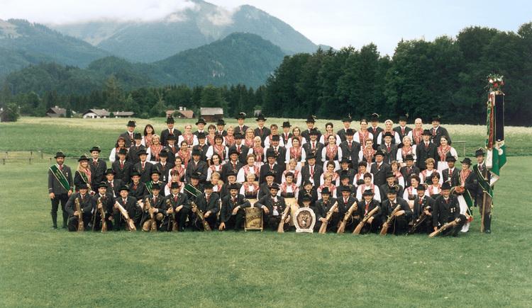 Gruppenfoto des Trachtenvereins D`Aberseea