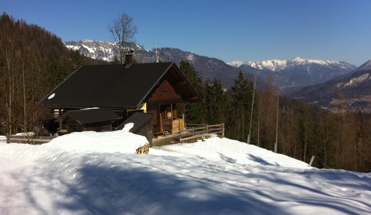 Die Rodelhütte wie sie bis Jänner 2013 ausgesehen hat, leider ist die Hütte bis auf die Grundmauern niedergebrannt.