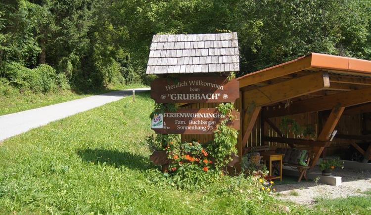 Haus Grubbach - überdachte Parkplätze