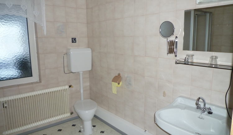 Ansicht des Badezimmers - Bild Nr. 2. (© Haus Straubinger-Tiefenbacher Bad Goisern)