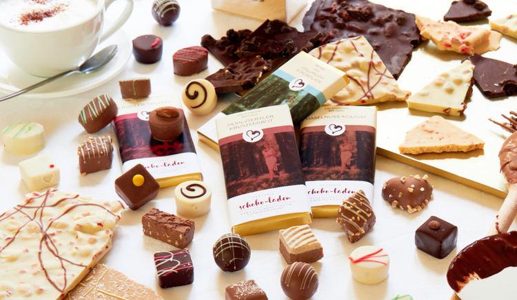 Schokoladensortiment Schoko-Laden Wöß