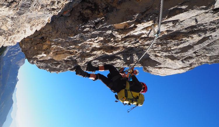 Gr. Priel Klettersteig Holger Friedl Manuela 10.10.2018 09-39-38 (© TVB Pyhrn-Priel/Kniewasser)