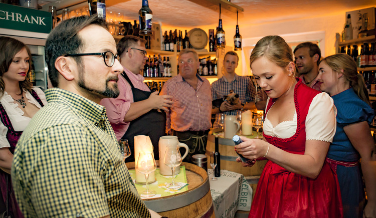 Bierkeller im Biergasthof Riedberg (© Stadtmarketing Ried)
